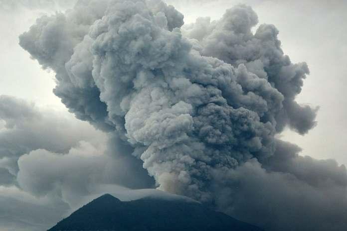 dampak letusan gunung agung