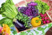 sayuran organik dan non-organik