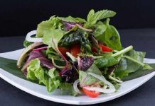 lalapan atau sayuran matang