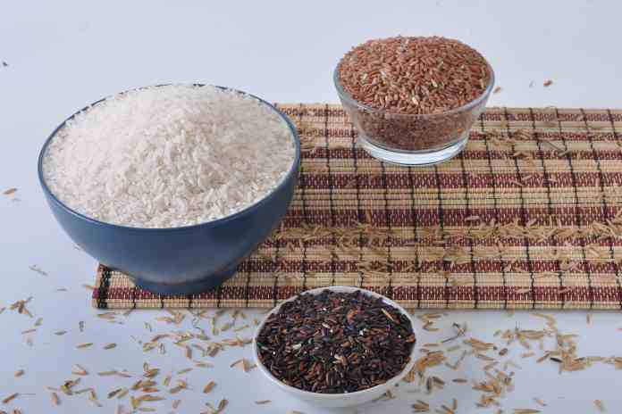 beras organik.