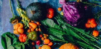 mengeringkan sayuran