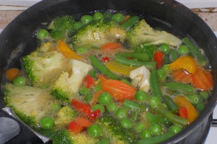 merebus sayuran