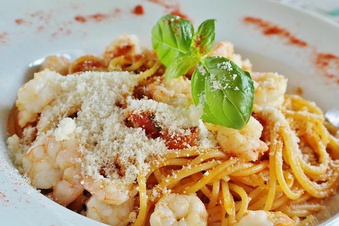 spageti panggang krim udang