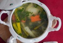 sup lobak sayap ayam